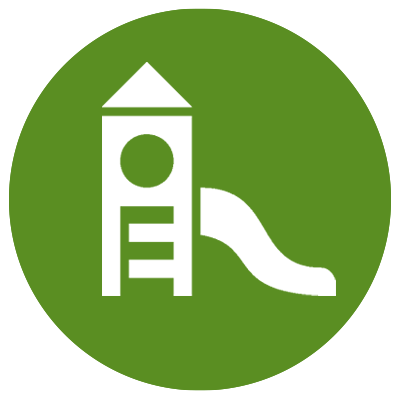 Green icon showing playground